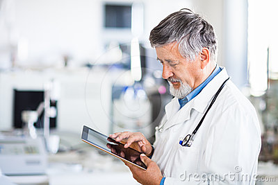 Senior Male Researcher  In A Lab Stock Images - Image: 24610494