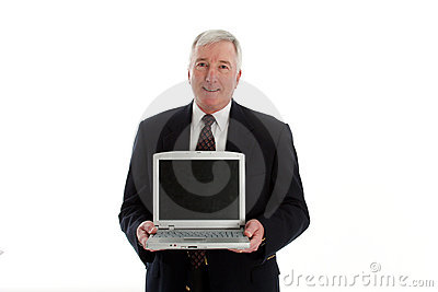Senior Man With Computer