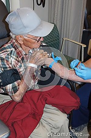 Senior Man in ER Hospital Room