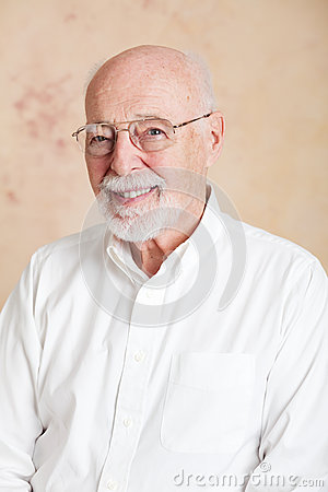 Senior Man with Glasses - Portrait