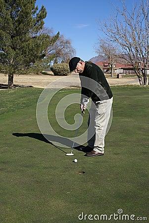 Senior Man Golfing