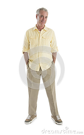 Senior Man With Hands In Pockets
