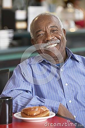 Free Senior Man Having Morning Tea Stock Images - 9004014