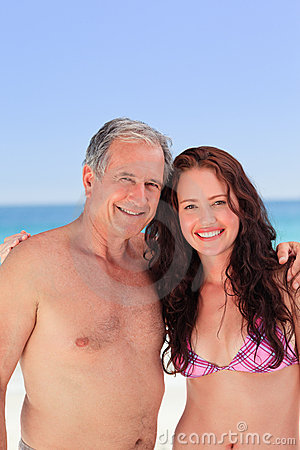 Senior man with his daughter
