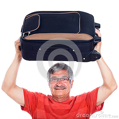 Senior man with luggage