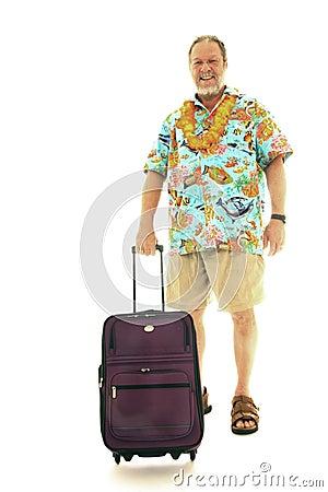 Senior man with luggage