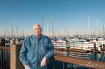 Senior Man at Marina