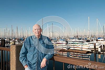 Senior Man at Marina