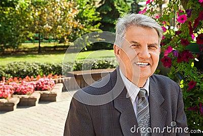 Senior man in park