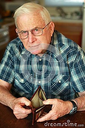 Free Senior Man S Empty Wallet Royalty Free Stock Photo - 12181875