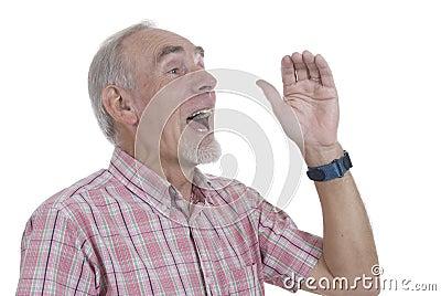 Senior man shouting