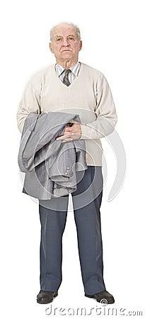 Senior man standing-up