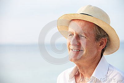 Senior Man On Tropical Beach Holiday