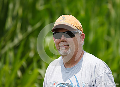 Senior Man Wearing Sunglasses Outdoors Stock Photos - Image: 25895053