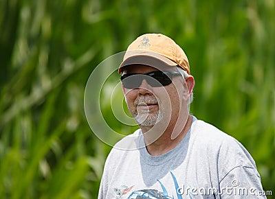 Senior Man Wearing Sunglasses Outdoors