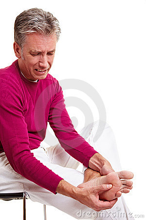 Free Senior Man With Foot Pain Stock Photography - 18489362