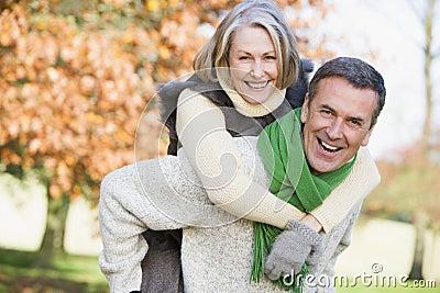 Senior man and woman Stock Photo