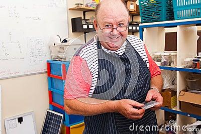 Senior man workshop