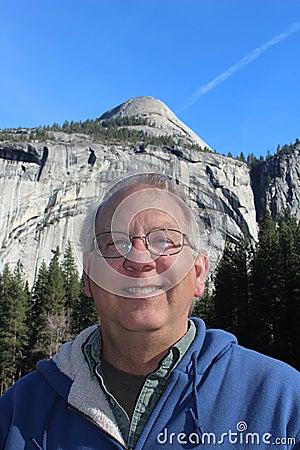 Senior Man at Yosemite National Park California