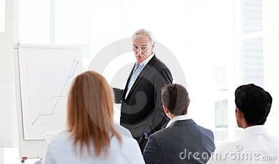 Senior manager giving a presentation