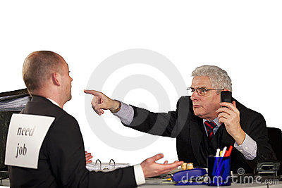Senior manager rejecting applicant