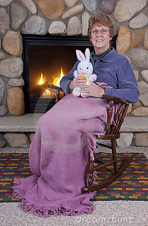 Senior Mature Woman Easter Bunny Stuffed Toys