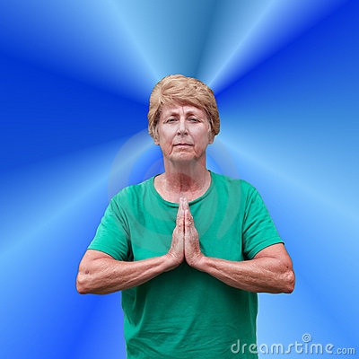 Senior Mature Woman Spiritual Spirituality Prayer