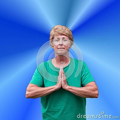 Free Senior Mature Woman Spiritual Spirituality Prayer Royalty Free Stock Images - 15489189
