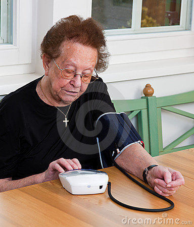 Senior measure blood pressure