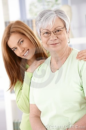 Free Senior Mother And Daughter Smiling Royalty Free Stock Photo - 19019005