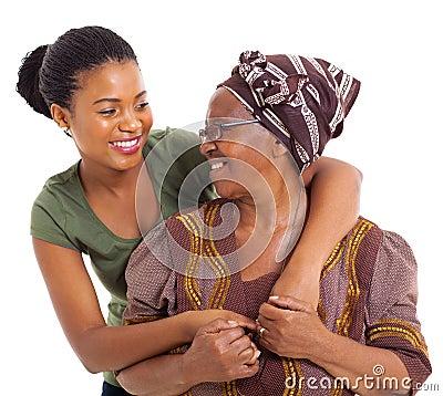 Senior mother daughter