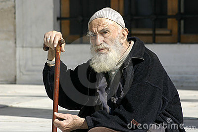 Senior Muslim Man Editorial Stock Photo