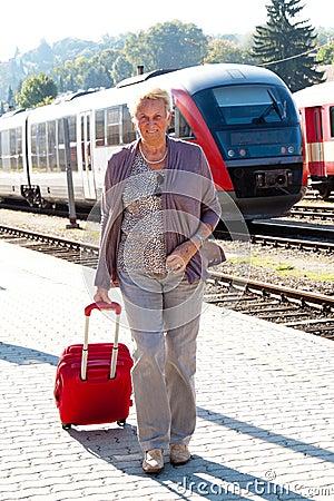 Senior older woman at