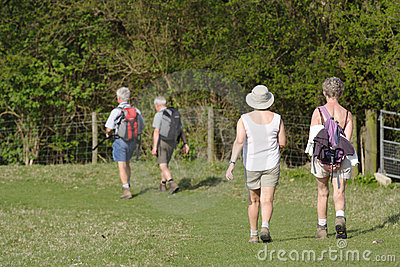 Senior people walking