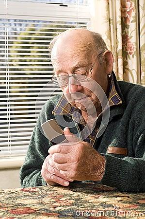 Senior and phone