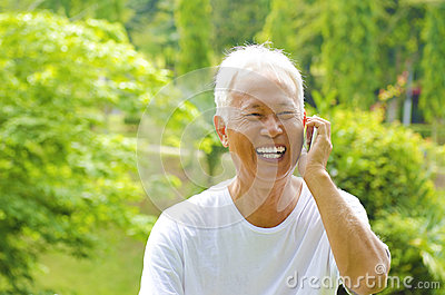 Senior on the phone