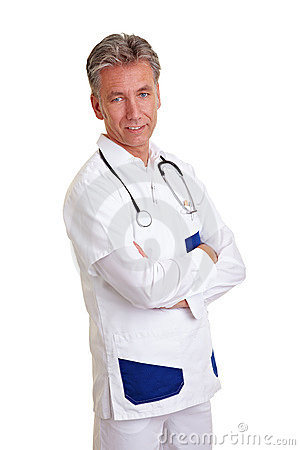 Senior Physician with crossed arms
