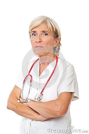 Senior physician woman