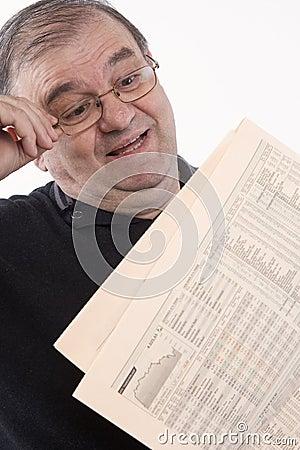 Free Senior Read Newspaper Royalty Free Stock Image - 5247666