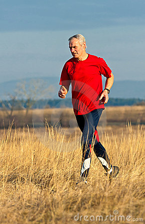 Senior Runner Royalty Free Stock Image - Image: 17973616