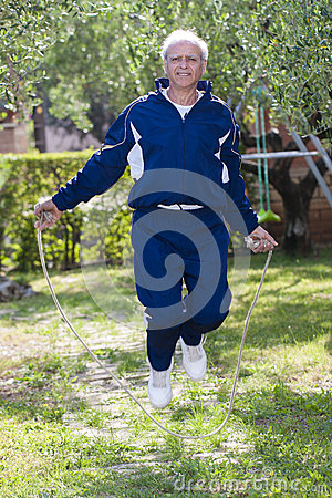Free Senior Skipping Rope Outdoor Royalty Free Stock Photography - 41247447