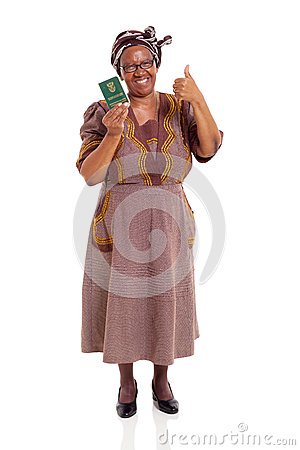 Senior south african woman ID book