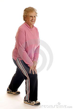 Free Senior Stretches. Royalty Free Stock Photography - 1524517