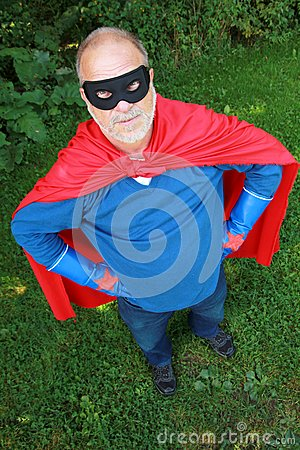 Senior super hero