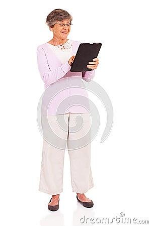 Senior tablet computer