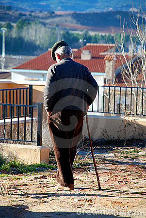 Senior take a walk