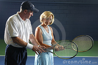 Senior Tennis Instruction