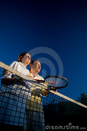 Senior tennis partners