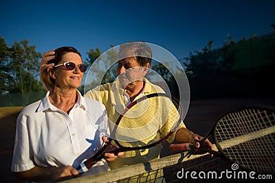 Senior tennis players