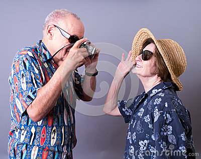 Senior Tourists On Vacation